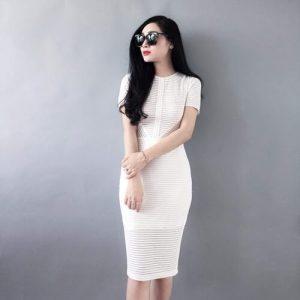 Đầm ôm công sở màu trắng