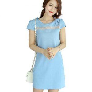 Đầm công sở màu xanh ngọc