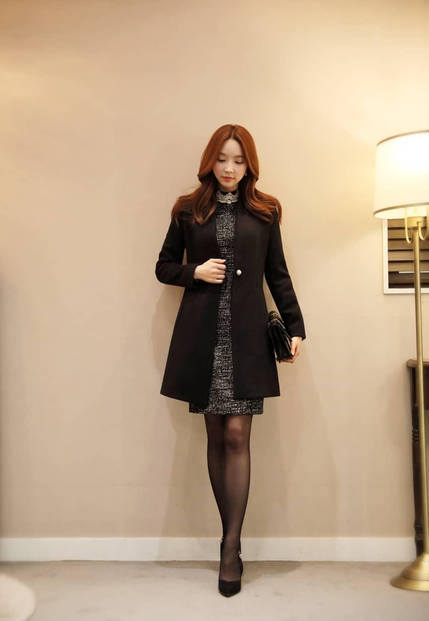 Áo khoác gile cổ vest dáng dài