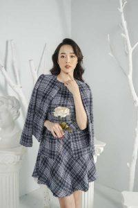 nhung, dệt kim, tweed 3 chất liệu vừa giữ ấm vừa hợp mốt thu đông 6