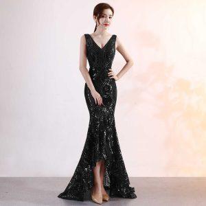 Váy dự tiệc kim sa dáng dài đuôi cá